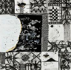 john Pule - homeland Polynesian Art, New Zealand Art, Nz Art, Maori Art, Homeland, Printmaking, Grid, Journey, Portraits
