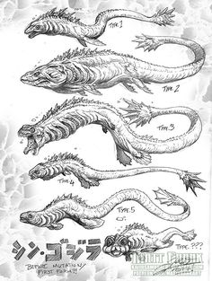 Developmental stages of SHIN GOJIRA by Matt Frank