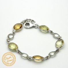 Citrine (Sunela) Silver Bracelet