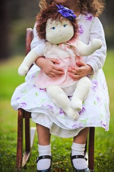 """I love this little girl's baby doll!  Baby Doll Pattern - Cloth 16""""  Nanny Doll By Country Cottage Dolls PDF PATTERN"""