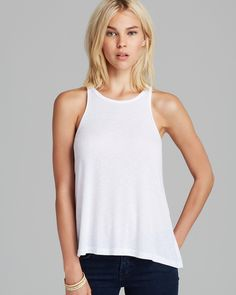 Free People Tank - Rayon Slub Long Beach | Bloomingdale's