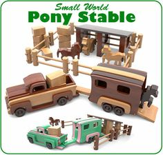 Small World Pony Stable Wood Toy Plan Set