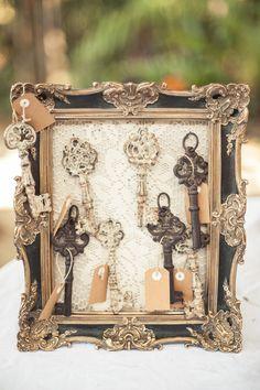 DIY Wedding decor key message display