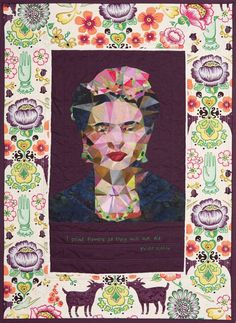'Frida' by Ngaire Fleming, quilted by Leonie Wihongi. Photo by Jaffa quilts: 2015 Auckland Festival of Quilts.