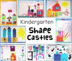 3 Fun and Easy Kindergarten Art Lessons For me it is always a challenge to keep up with Kindergarten art projects. I see my classes twice per week for 40 minutes, so they get to do a lot of art! They go through lessons and projects quic… Preschool Art Lessons, Landscape Art Lessons, Kindergarten Art Projects, Art Lessons For Kids, Kindergarten Lessons, Art Lessons Elementary, Elementary Art Education, Kindergarten Shapes, Art Education Lessons