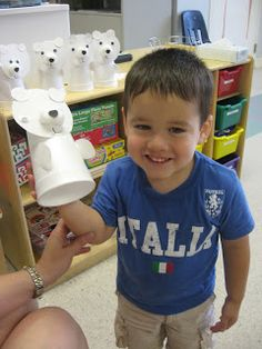 Pre K Sweet Peas: Around the World Annmarie - Easy Polar bear craft puppet for 3's & 4's??