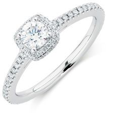 Michael Hill Designer Allegro Engagement Ring with 0.72 Carat TW of Diamonds in 14kt White Gold