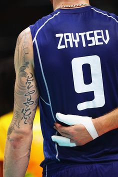 Ivan Zaytsev of Italy seen from behind during the Men's Gold Medal Match between Italy and Brazil on Day 16 of the Rio 2016 Olympic Games at Maracanazinho on August 21 2016 in Rio de Janeiro Brazil. Japan Volleyball Team, Sport Volleyball, Volleyball Players, Olympic Badminton, Olympic Gymnastics, Olympic Games, Rio Olympics 2016, Summer Olympics, Volleyball Wallpaper