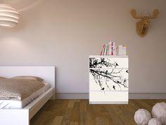 """""""Trees and Birds"""": Sorgt für Abwechslung im Schlafzimmer! #ikea #malm #kommode"""