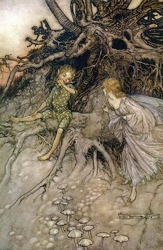Arthur Rackham - illustrations for *A Midsummer Night's Dream* by William Shakespeare