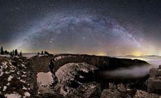 La Vía Láctea sobre Suiza