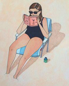 """Что делают женщины, когда на них никто не смотрит - Иллюстратор Салли Никсон начала проект под названием """"365"""", в котором она должна была создать одну иллюстрацию в день в течение целого года."""