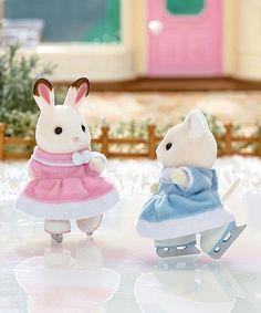 Another great find on #zulily! Ice Skating Friends Figurine Set #zulilyfinds