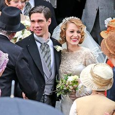 Star Tracks: Wednesday, March 26, 2014 | WEDDING BELLE | Congratulations! Blake Lively makes for one very beautiful bride while filming a scene for her new movie, The Age of Adaline, with costar Peter J. Gray in Vancouver, Canada, on Wednesday.