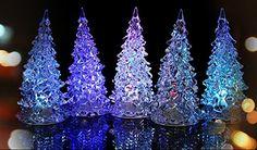 Modern Christmas tree LED lights - Adorable Home