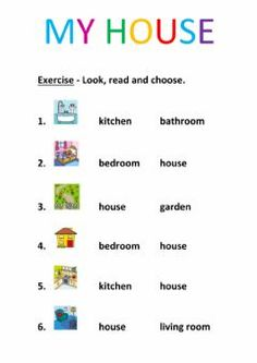 Rooms in the house Interactive worksheets English Activities For Kids, Learning English For Kids, English Worksheets For Kids, English Lessons For Kids, English Fun, Teaching Activities, Teaching English, Learn English, English Class