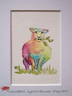 """No. 011a der wandklex-Unikatserie """"Ich war schon immer das Bunte Schaf der Familie"""" - nummerierte Einzelstücke! Ihr eigenes Schaf können Sie als Ihr Designerstück von wandklex® Ingrid Heuser, Ratzeburg, Germany bestellen:  im kleinen Klexshop bei DaWanda auf http://de.dawanda.com/shop/wandklex ©  Kunstatelier wandklex Ingrid Heuser, D-Ratzeburg Besuchen Sie mich auch auf facebook: https://www.facebook.com/wandklex"""