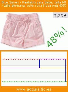 Blue Seven - Pantalón para bebé, talla 68 - talla alemana, color rosa (rosa orig 405) (Ropa). Baja 47.991391678623%! Precio actual 7,25 €, el precio anterior fue de 13,94 €. https://www.adquisitio.es/blue-seven/pantal%C3%B3n-beb%C3%A9-talla-68