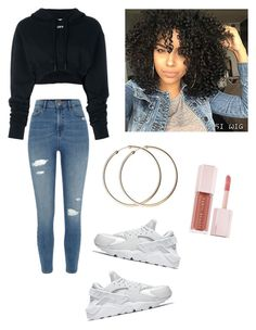 """Untitled #95"" by haileymagana on Polyvore featuring Off-White, River Island, NIKE and Puma"