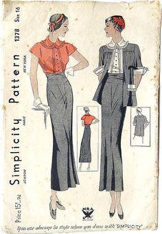 vintage 1930's fashion, #1930s