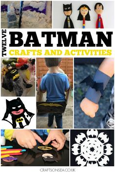 12 Batman Crafts and Activities So before I even start properly wring this post I can now confirm that this will probably be my son's most favourite thing ever that I've written. My kids are huge Batman fans and Batman crafts and activities are not just what they like the most but what my son would do every single day if he could. #Batman #Kids #Crafts