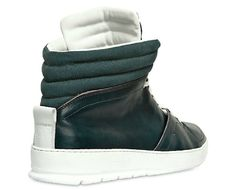Navy Dior Homme Ribbed Canvas and Calfskin Sneakers