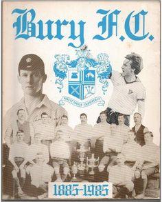 Cartel conmemorativo al Centenario del Bury Football Club.