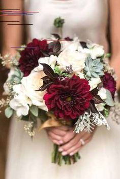Wedding bouquet is an important part of the bridal look. Looking for wedding bouquet ideas? Check the post for bridal bouquet photos! Bridal Bouquet Fall, Fall Wedding Bouquets, Bride Bouquets, Floral Wedding, Rustic Wedding, Trendy Wedding, Flower Bouquets, Winter Bouquet, Red Wedding Flowers