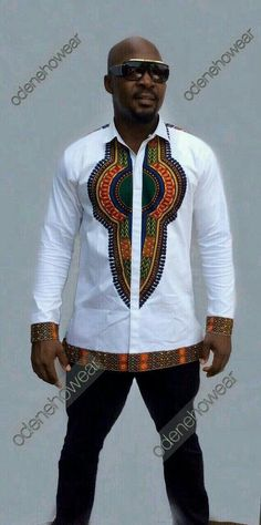 Details about Odeneho Wear Men's White Polished Cotton Top With Dashiki. African Clothing Our top and bottom are usually custom made. We appreciate it a lot. African Shirts, African Print Dresses, African Fashion Dresses, African Fashion Designers, African Print Fashion, Africa Fashion, African Attire, African Wear, African Style