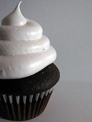 Marshmallow Frosting Recipe (for the hostess cupcakes, maybe?)     (Martha Stewart Recipe)