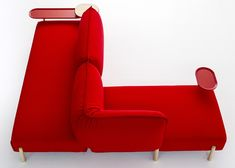 Patricia Urquiola upholsters modular sofa for Moroso in jersey fabric  Idée sympa du recto/verso