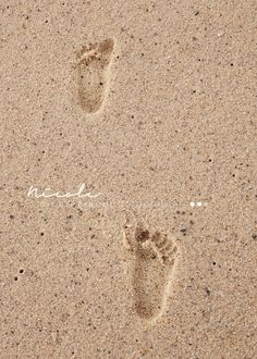Baby Toddler Footprints in the sand || Childrens photo beach session || Nicole Grace Photography, Massachusetts, NY, CT, New England Photographer