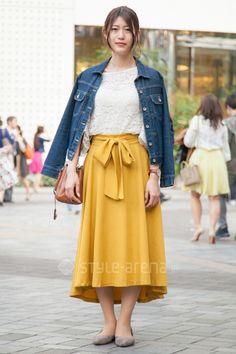 Japanese Streets, Japanese Street Fashion, Tokyo Street Style, Street Snap, Uniqlo, Fashion News, Midi Skirt, Skirts, Skirt