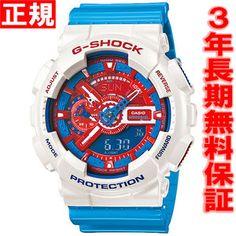 カシオGショックCASIOG-SHOCK限定モデル腕時計メンズブルー&レッドシリーズアナデジGA-110AC-7AJF【カシオGショック2013新作】【正規品】【送料無料】【smtb-k】【w3】【楽ギフ_包装】
