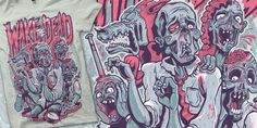 Wake The Dead - Generic Zombies t-shirt design by chad manzo