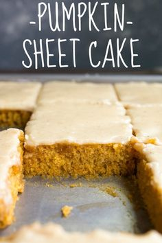 Pumpkin Sheet Cake New Year's Desserts, Thanksgiving Desserts, Holiday Desserts, Delicious Desserts, Dessert Recipes, Yummy Food, Cooking Joy, Low Fat Cooking, Cooking For Two