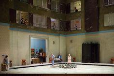 Katya Kabanova at the Opéra national de Paris. Production by Christoph Marthaler. Sets and costumes by Anna Viebrock.