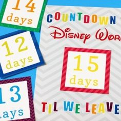 Countdown to Disney #disneycountdownprintable #freecountdownprintable