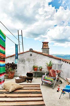 Lovely rooftop terrace / Alegre terraza