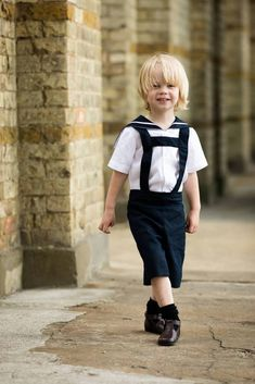 Vintage style linen sailor suit, a perfect boys formal suit for a page boy or Christening outfit, baby boy christening romper outfit - handmade in London, UK Sailor Shirt, Sailor Collar, Sailor Dress, Boys Christening Romper, Boys Formal Suits, Nautical Outfits, Royal Clothing, Romper Outfit, Page Boy