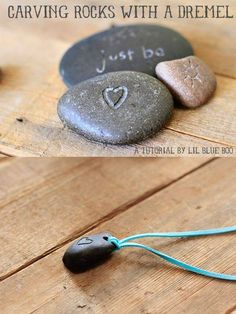 How to carve and drill holes through rocks with a Dremel :) ~Daw   http://www.lilblueboo.com/2012/09/carving-rocks-with-a-dremel.html