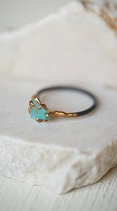 Variance Objects Raw Opal Ring