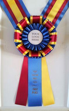 Award Ribbon Professionals - McLaughlin Ribbon Awards creates custom award ribbons, champion rosette award ribbons, neck sashes, sashes, and custom badges & buttons. Horse Show Ribbons, Ribbon Projects, Custom Awards, Custom Badges, Showing Livestock, Custom Printing, Leis, Dog Show, Show Horses