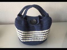 Kostenlose Häkelanleitung runde Tasche Sac rond à motif crochet gratuit Bag Crochet, Crochet Gratis, Free Crochet, Knitting Patterns, Crochet Patterns, Knitting Tutorials, Round Bag, Wearable Device, Motif Floral