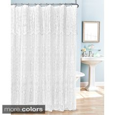 Shop for Lace Shower Curtain. Free Shipping on orders over $45 at Overstock.com - Your Online Bath