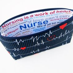 Nurse Cosmetic Zipper Pouch, Make Up Bag, Calling All Nurses on Etsy, $16.00