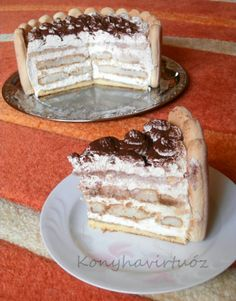 Konyhavirtuóz: Tiramisu torta - VKF! 70. forduló Croatian Recipes, Hungarian Recipes, Love Cake, Bacon, Good Food, Cooking Recipes, Cupcakes, Sweets, Ethnic Recipes