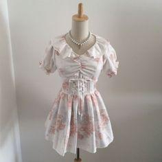 LIZ-LISA-Tunic-Mini-Dress-Top-Floral-Kawaii-Japanese-Gyaru-Fashion