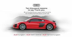 We've always excelled at excellence because of you. We would like to thank everyone for their support. Audi, Car, Automobile, Vehicles, Cars, Autos
