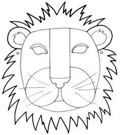 Lion mask *(We Scare Hunger) Animal Masks For Kids, Animal Crafts For Kids, Mask For Kids, Printable Animal Masks, Carnival Of The Animals, Alphabet Sounds, Lion Mask, Mask Template, Classroom Inspiration